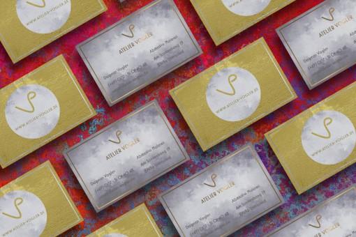 Visitenkarten Atelier Vogler