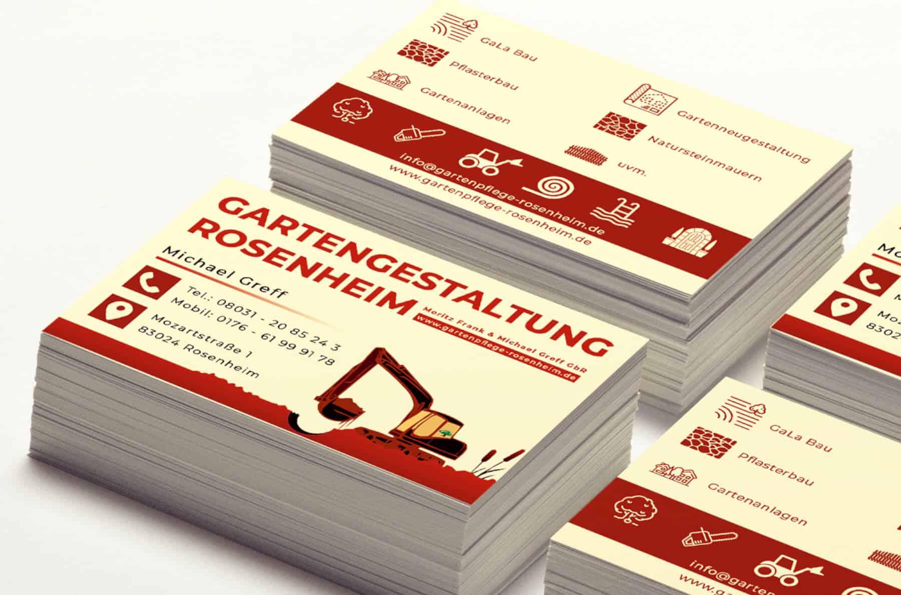 Visitenkarten Gartengestaltung Vogler Marketing