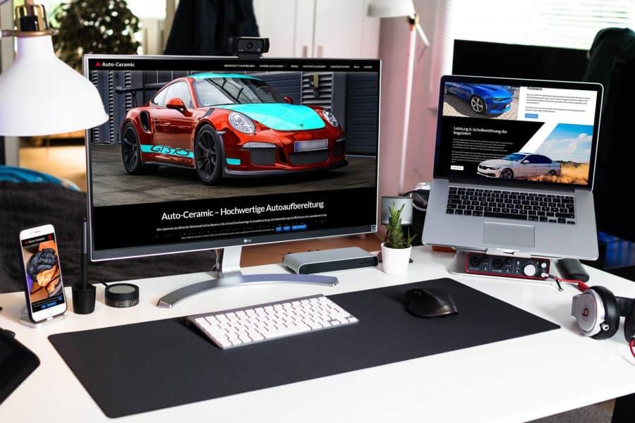 Neue Website Auto Ceramic