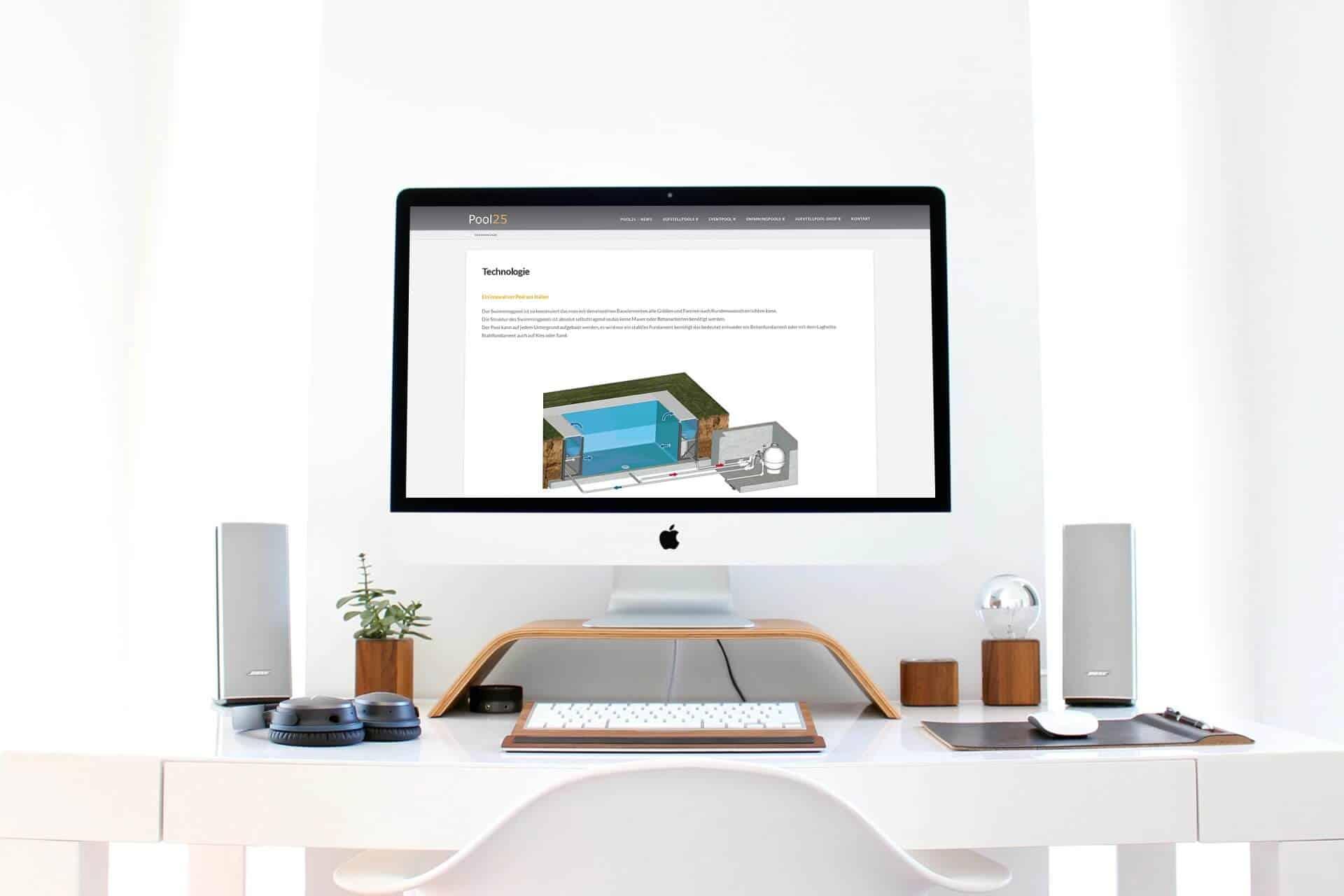 Webdesign Poolbau