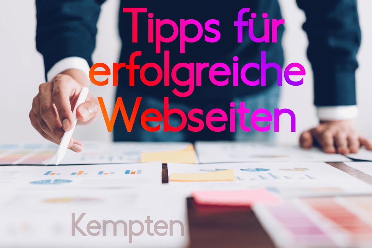 Wie wird meine Website erfolgreich in Kempten, dem Allgäu & überregional?